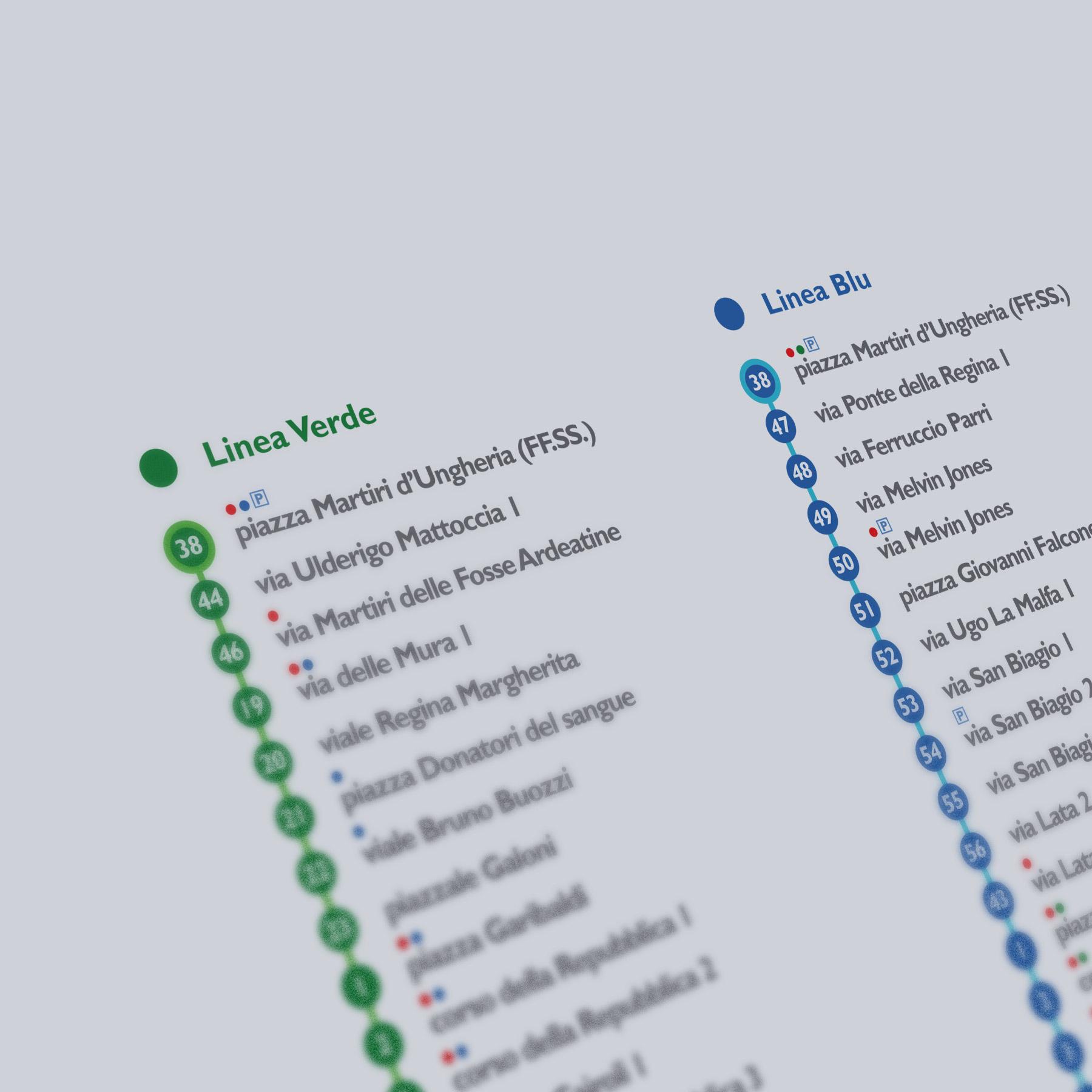 """progetto """"Velletri: park & bus in centro"""": le linee dei bus"""